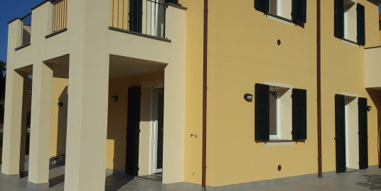 Newly built two bedroom apartment in villa with garden