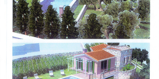 Villa under constraction with land of 2800 sqm and sea view